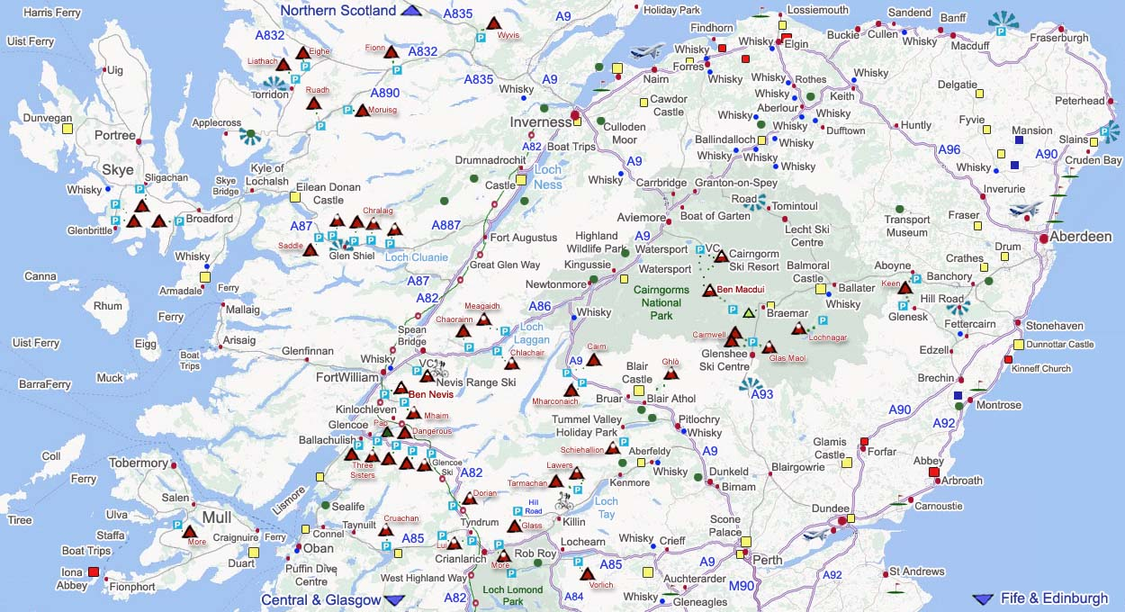 Map Of Uk Hills And Mountains.Highlands Scotland Map