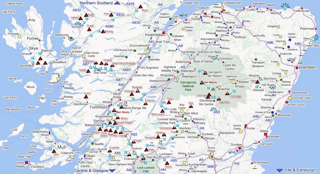 Highlands Scotland Map on scottish national parks map, scotland map, scottish airports map,