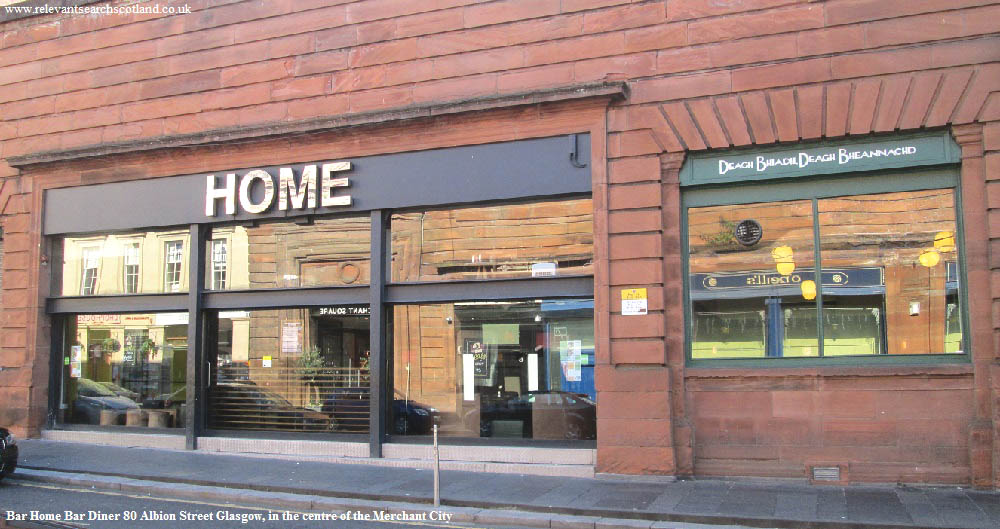 Merchant City Bar Diners Glasgow