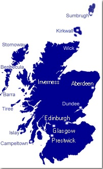 Scotland Airports Click On Map