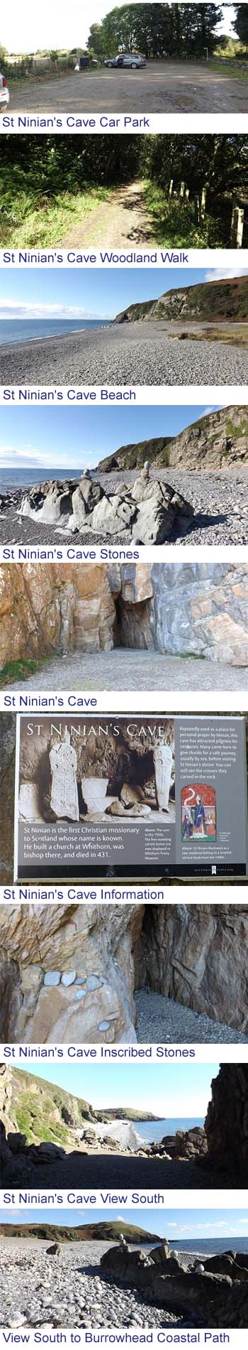 St Ninian's Cave Images